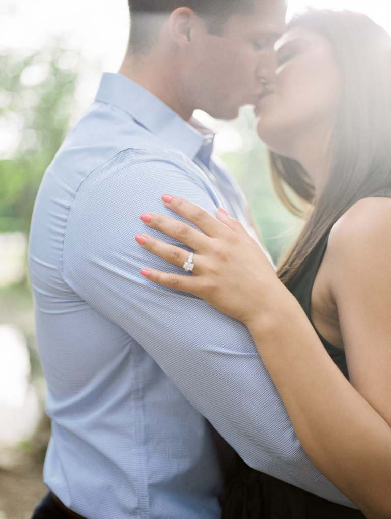 hinsdale wedding photographer engagement pictures at graue mill museum