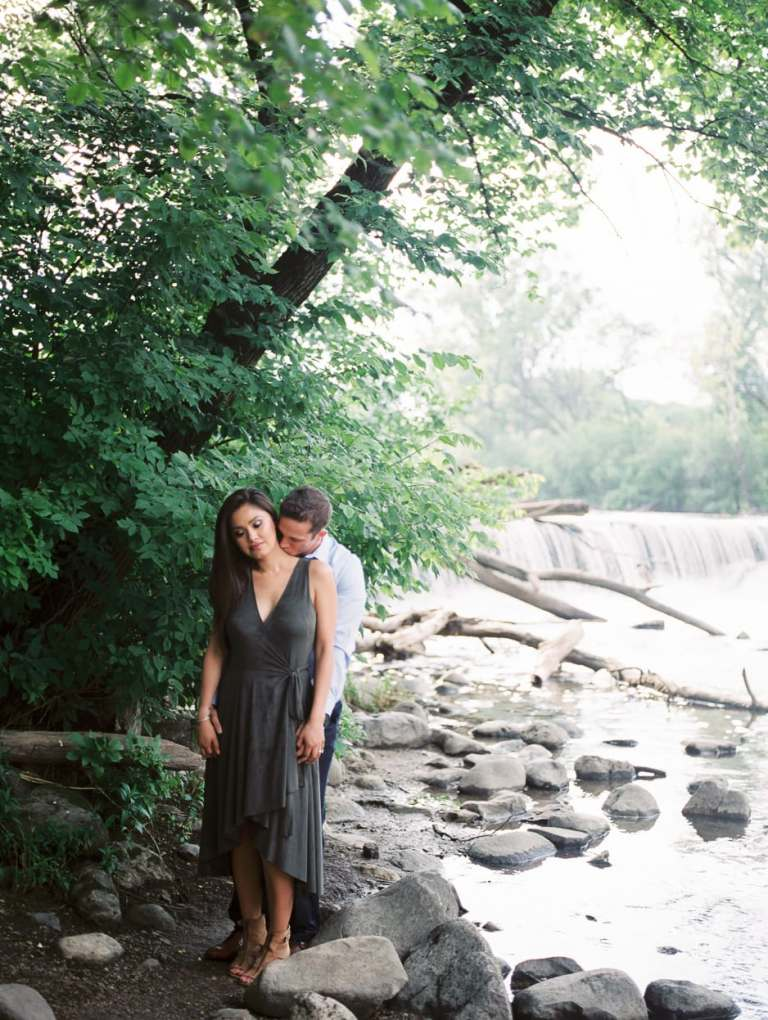 hinsdale photographer engagement session at oak brook illinois